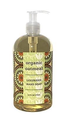 Greenwich Bay ORGANIC OATMEAL Hand Soap - Enriched with Shea Butter, Cocoa Butter, Organic Oatmeal Extract , No PARABENS 16 Oz.