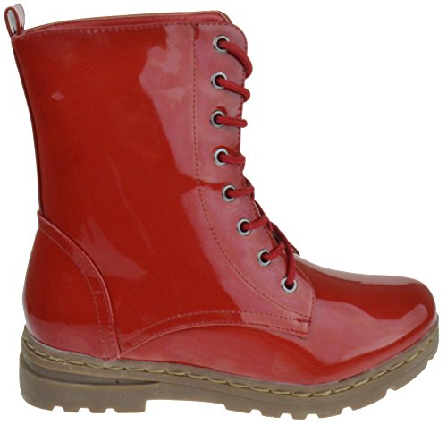 Milatary Womens Up Gwen Red Patent HI 01 Nature Boots Lace Breeze Combat 8IPYwqUcxp