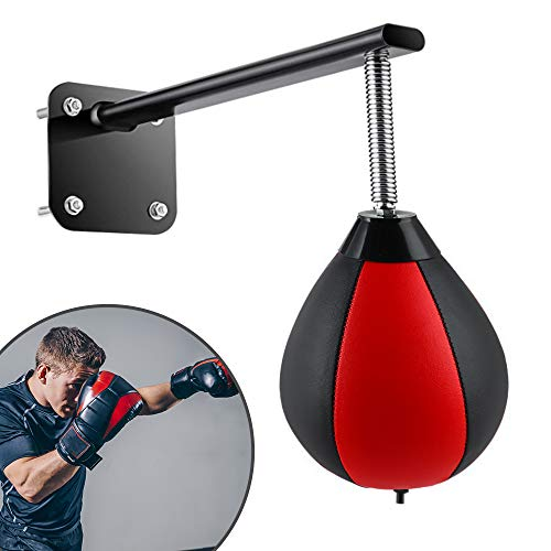 Punching Bag Wall Mount with Spring Punching Bag Reflex Speed Bag Wall Hanging Wall-Mounted Strong Durable Boxing Ball…