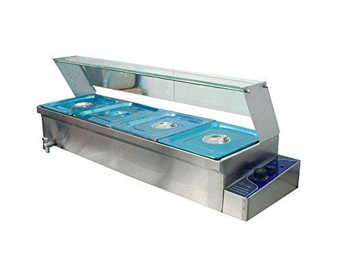 Buffet Food Pans - 4-Pan Buffet Bain-Marie Food Warmer Steam Table 1500W 110V Restaurant Warming
