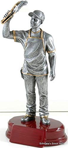 Decade Awards BBQ Chef Resin Trophy   King of The Grill Award   7.25 Inch Tall - Cutomize Now