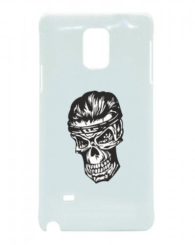 "Smartphone Case Apple IPhone 5/ 5S/ SE ""Eleganter Totenschädel mit Haaren nach hinten Skelett Totenkopf Gothic Biker Skull Emo Old School"" Spass- Kult- Motiv Geschenkidee Ostern Weihnachten"