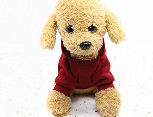 PvxgIo Ropa para Mascotas Jersey Deportivo con Sombrero Gato Caliente Ropa para Perros M