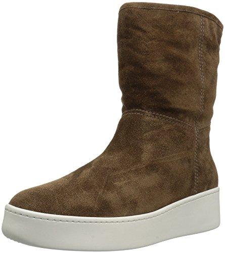 Via Spiga Women's Elona Shearling Sneaker Fashion Boot Bark Suede Y8d4aeZz