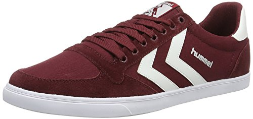Hummel Slimmer Stadil Low, Unisex Adults' Low-Top Sneakers, Red (Cabernet 3661), 5 UK (38 EU)