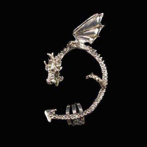 BestOfferBuy Fashion Punk Silver Oriental Dragon Ear Wrap Cuff Clip On Earring