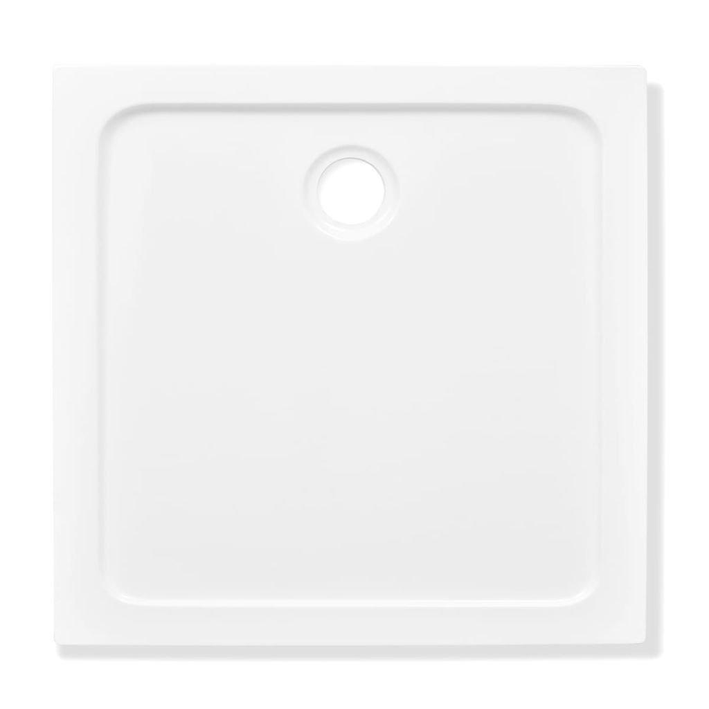 vidaXL Receveur de Douche ABS Rectangulaire Blanc Bac /à Douche Salle de Bain