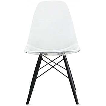 dining room chairs for less | Amazon.com - 2xhome - Clear - Eames Style Side Chair Black ...