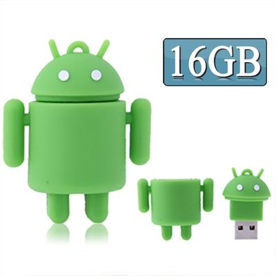 CAOMING 16GB Android Robot Style USB Flash Disk (Green) by CAOMING
