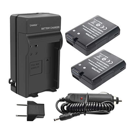 Turpow EN EL14 EN EL14A Battery Charger Set 2 Pack Replacement Battery Compatible with Nikon D3100 D3200 D3300 D5100 D5200 D5300 D5500 DF Coolpix P700