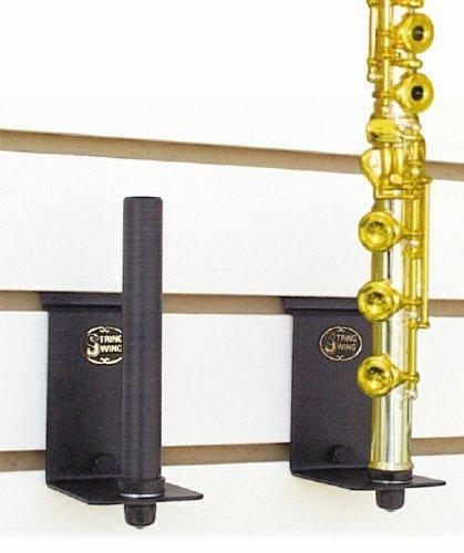 String Swing BHH15-3 Vertical Slatwall Flute Holder - Black
