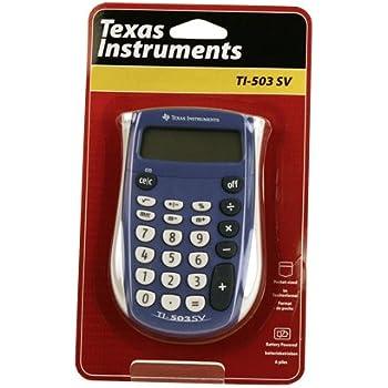 TEXTI503SV - Texas Instruments TI-503SV Pocket Calculator