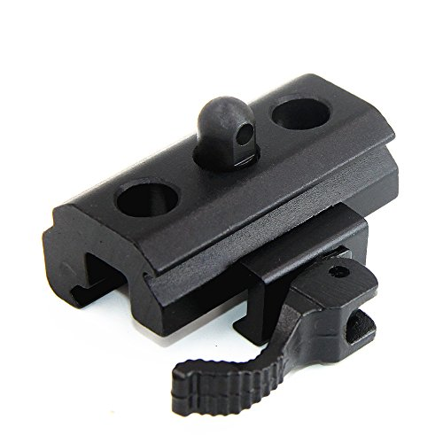 JINSE 20mm Picatinny Weaver Rails Quick Detach Cam Lock Bipod Adapter