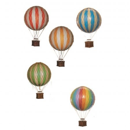 Hot Air Balloon Replica - Authentic Models Floating in the Air - Color: True Green (Balloon Hot Air)