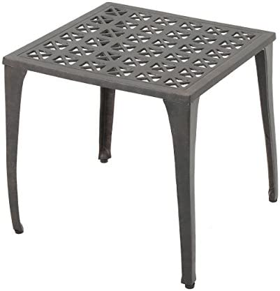 Christopher Knight Home Kai Outdoor 18″ Cast Aluminum Side Table