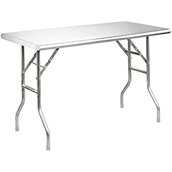 Royal Gourmet Stainless Steel Folding Work Table, ...