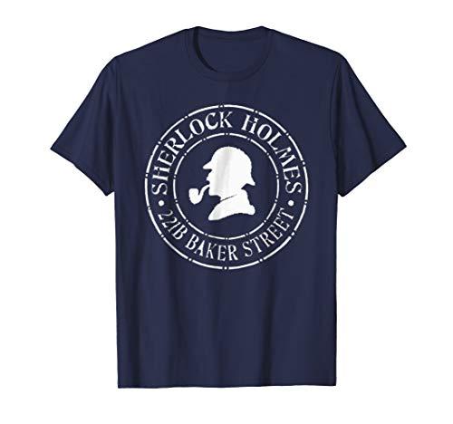 Sherlock Holmes T-Shirt British Detective 221B Baker Street