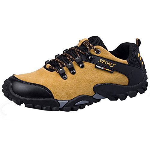 Scarpe Moda Trekking Basse Yellow TAOFFEN Uomo Stivali qtfw0gIC