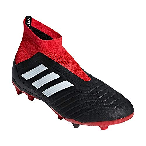 adidas Kid's Predator 18+ FG Soccer Cleat, 5.0 D(M) US, Core Black/Core Black/Red