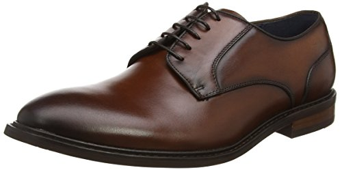 Steve Madden Bozlee Low, Scarpe Stringate Derby Uomo Marrone (Tan)