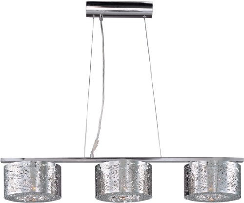 ET2 Lighting 21304 Inca Multi Light Pendant Fixture, Polished Chrome Finish, 37 by 6-Inch - 37 Et2 Lighting