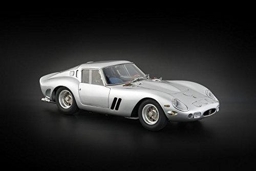 CMC-Classic Model Cars Ferrari 250 GTO 1962 Limited Edition Vehicle (1:18 Scale), Silver