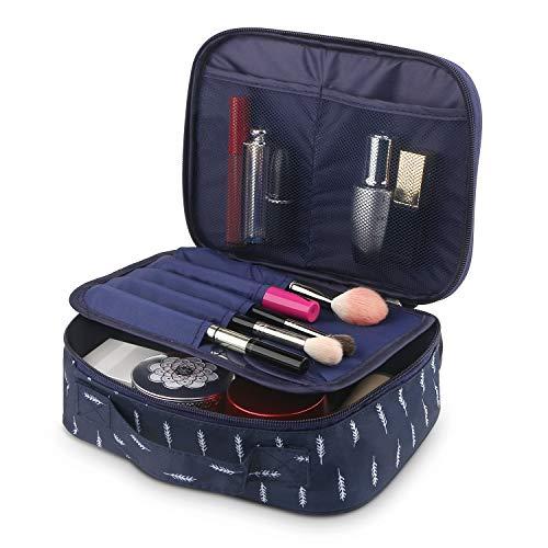 Fashion Cosmetic Bag Cute Makeup Toiletry Bag Multifunction Storage Portable Waterproof Travel Makeup Organizer Bag for Women (Deep Blue)