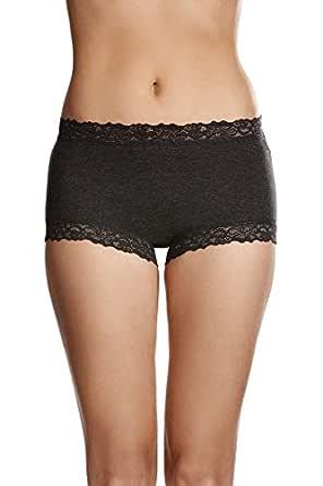 Jockey Women's Underwear Parisienne Cotton Full Brief, Charcoal Marle, 12