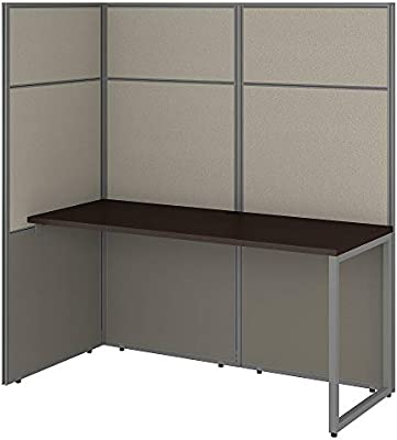 Bush Business Furniture EODH160MR-03K Easy Office Cubicle Desk Workstation  with 66H Open Panels, 60Wx60H, Mocha Cherry