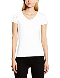 Fruit Of The Loom Ladies Lady-Fit Valueweight V-Neck Short Sleeve T-Shirt