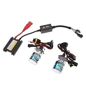 12V 35W H13H Xenon High Beam / halógena haz de luz baja HID Lamp Kit de conversión Set (AC 12V lastre delgado) , 12000K