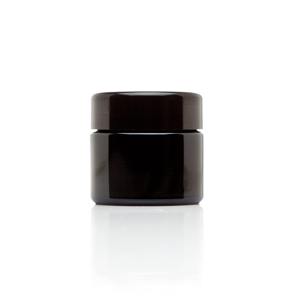 Infinity Jars 50 Ml (1.7 fl oz) 10-PACK Set Travel Size Black Ultraviolet Glass Screwtop Jar
