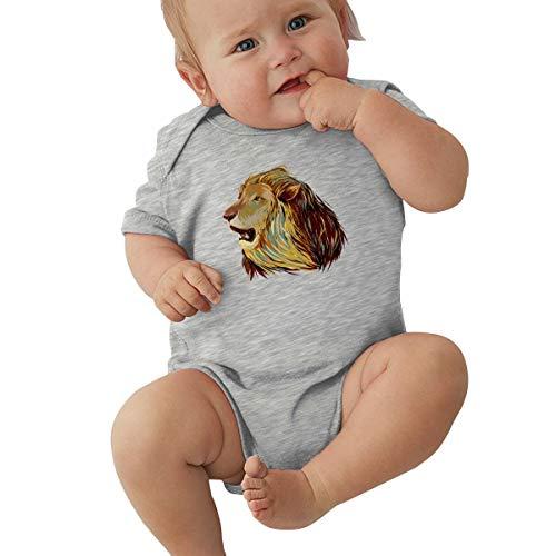 Faleny Cotton Baby Onesies-Unisex Breathable Rompers Lion Bodysuits Lab Shoulder Neckline Jumpsuit Infant One-Piece Outfit Short Sleeve Jersey 0-24 Months