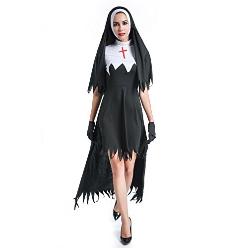 Cosplay Clothes,Halloween Party Zombie Nuns Cosplay Uniform Bar Stage Costume Cosplay Costume For Women