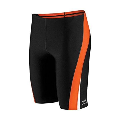 Speedo Launch Splice Endurance+ Jammer Male Black/Orange (Speedo Endurance Square Leg)