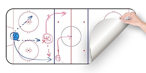 Hockey Coaching Whiteboard, Dry Erase, Ice hockey, Restickable, Removable, 15