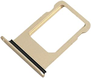 E-repair SIM Card Tray Holder Replacement for iPhone 7 (4.7'') (Gold)