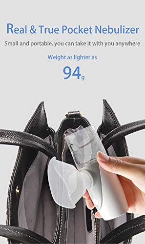 Mini Ultrasonic Portable Steam Inhaler for Kids & Adults & Seniors, Compressor Jet Kit Mask for Travel Household Atomized Ultrasonic Humidifier(Grey)