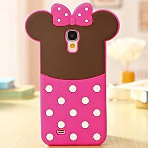 SHOUJIKE Lovely Pink Bowknot 3D Silicon Phone Case for Samsung Galaxy S4 i9500 , Pink