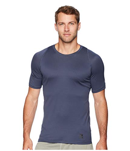 Nike Men's Dri-Fit Pro Colorburst Fitted Training Top-Thunder Blue-Medium (Nike Dri Fit Fitted)