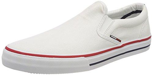 100 Hombre Tommy Zapatillas Slip Jeans Para On white Textile Blanco TTzfw7