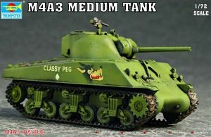 (Trumpeter 1/72 US M4A3 Tank)