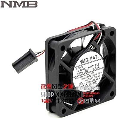 For NMB 2406KL-05W-B59-BQF 6CM 60mm DC 24V 0.13A server inverter computer pc case cooling fans