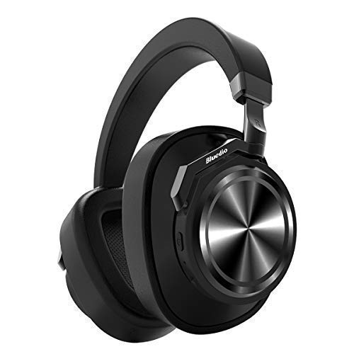 Bluedio T6 (Turbine) Bluetooth Headphones Over Ear Active Noise Canceling ANC Headphones with mic Wireless Headsets Support Amazon Web Services (AWS), 25 Hours Playtime for PC Cell Phone Kids