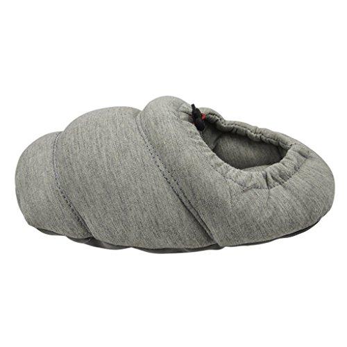Unisex Pantoffeln, Süße Damen Winter Baumwolle Hausschuhe Plüsch Wärme Weiche Kuschelige Home Rutschfeste Slippers Grau(42)