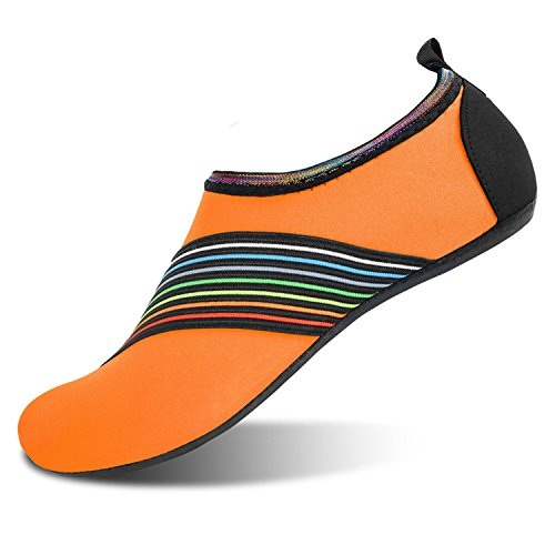 JOINFREE Damen Herren Kid Sommer Wasser Schuhe Barfuß Schuh Quick Dry Aqua Socken Yoga Fase Orange