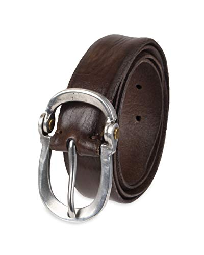 John Varvatos Leather Belts for Men Dress Casual for Jeans, Brown, 30 ()