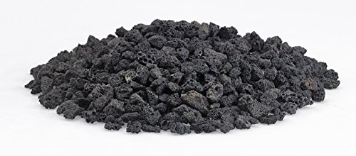 American Fireglass LAVA-S-10 American Fire Glass Small Sized Black Lava Rock - Porous, All-Natural,  - http://coolthings.us