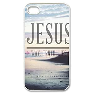Jesus quotes Customized Case for Iphone 4,4S, New Printed Jesus quotes Case