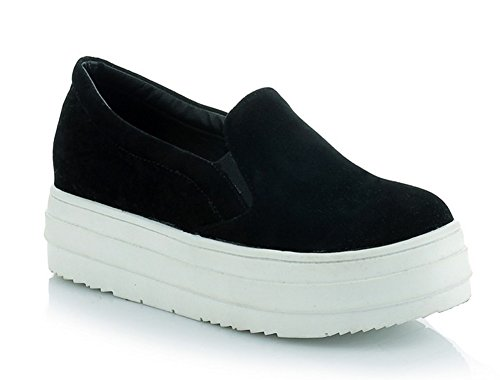 Aisun Damen Suede Slip-On Dicker Sohle Flache Schuhe Sneaker Grau 37 EU KFLte1URXq